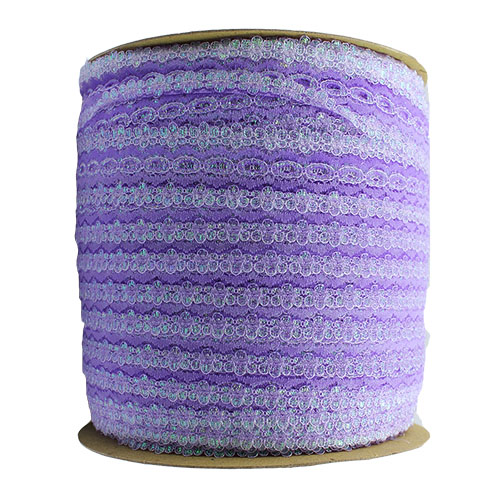 EYELET LACE 30MM OPAL LILAC
