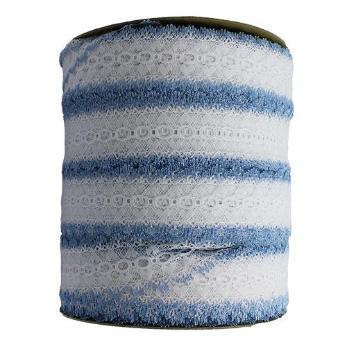 EYELET LACE EDGE LIGHT BLUE