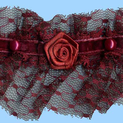 LACE FRILL/BEADS & ROSES WINE