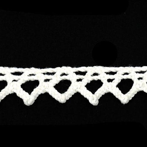 LACE TORCHON 12MM WHITE
