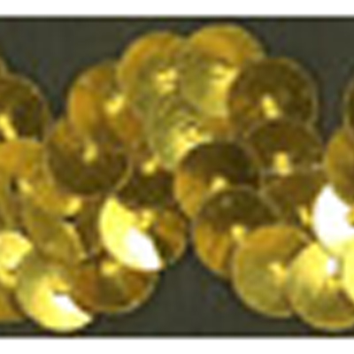 SEQUINS RIC RAC 20MM GOLD