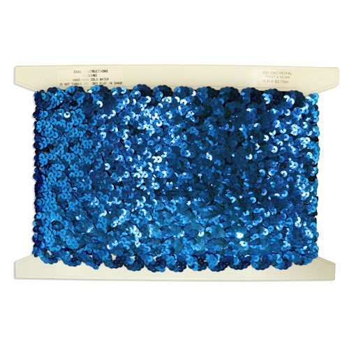 SEQUINS RIC RAC 20MM ROYAL