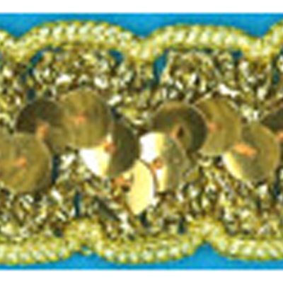 SEQUINS BRAID 25MM GOLD