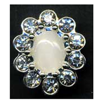 DIAMONTES BUTTON 21MM 10 / $ 19.99 ea.
