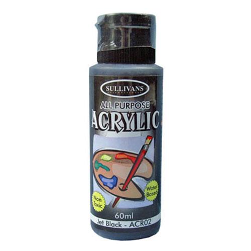 PAINT ACRYLIC ACR02 JET BLACK