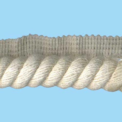 FLANGE CORD 20MM NATURAL COTTON