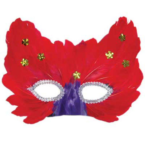 FEATHERED MASK DESIGN 1