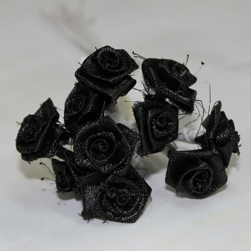 FLOWER SMALL SINGLE BLACK