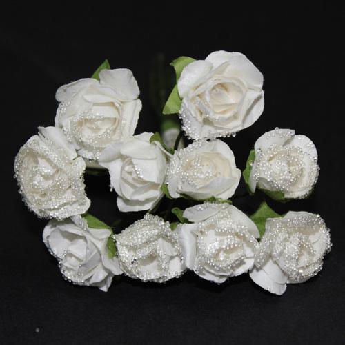 FLOWER SMALL GLASS WHITE/WHITE