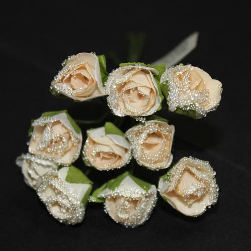 FLOWER SMALL GLASS CREAM/WHITE