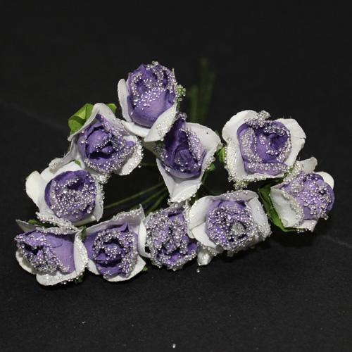 FLOWER SMALL GLASS AMETHYST/WHI