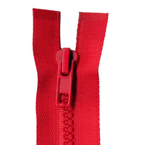 CHUNKY O/ END ZIP 20CM 519 RED