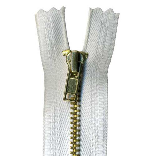 9027-501 18cm TROUSER ZIP WHITE