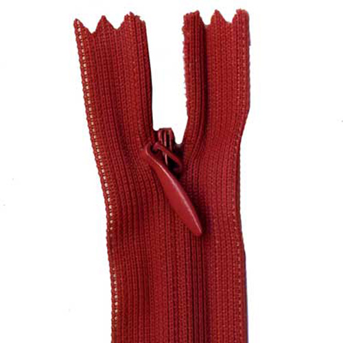 INVISIBLE ZIP 45CM RED